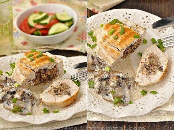 Курица, грибы, гречка — это классика кулинарии!