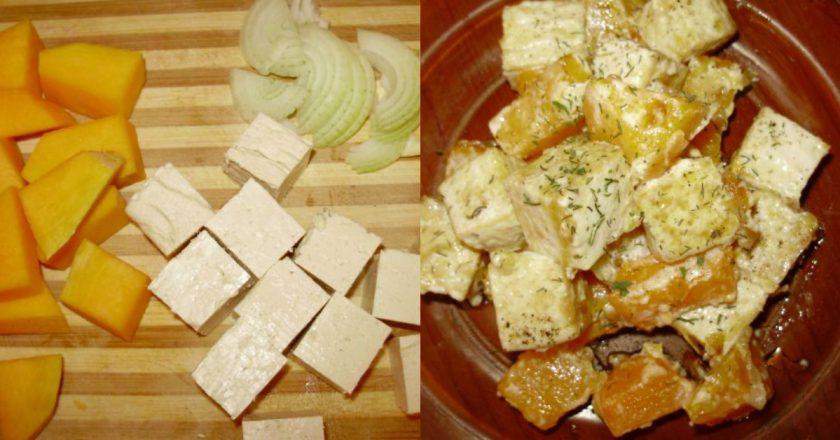 Тыква с тофу