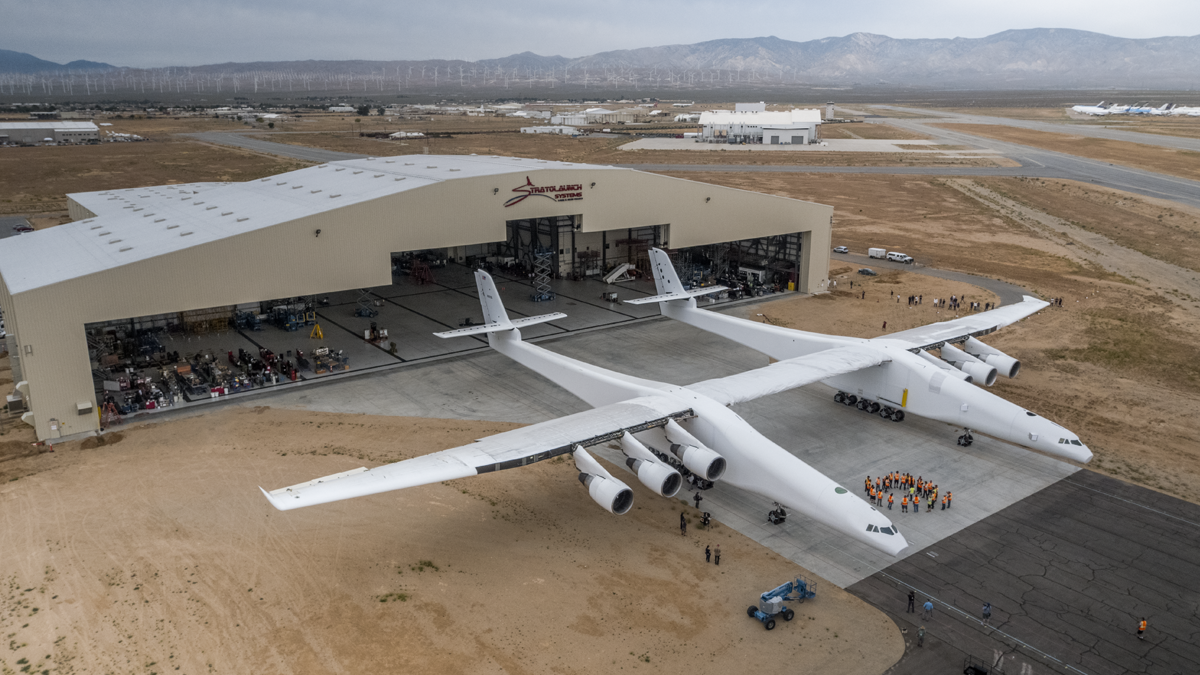 Stratolaunch Aircraft Makes First Rollout To Begin Fueling Tests