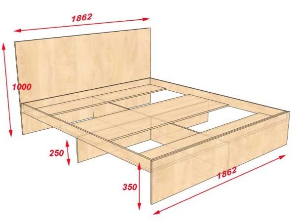 Кровать двуспальная своими руками чертежи