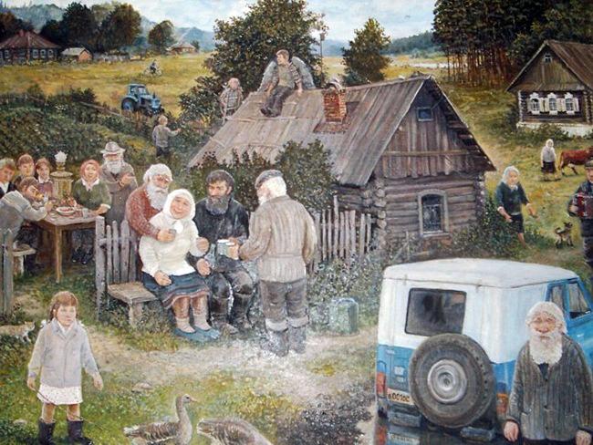 Как в русской деревне японцу дурно стало