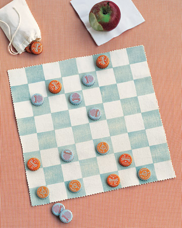 bottle cap game board