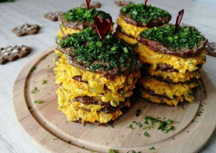 Печёночные мини-торты.  Фото: cookpad.com.