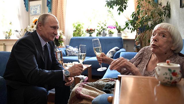 Путин и Алексеева выпили и поговорили о США: страна хорошая, но проблем тоже много