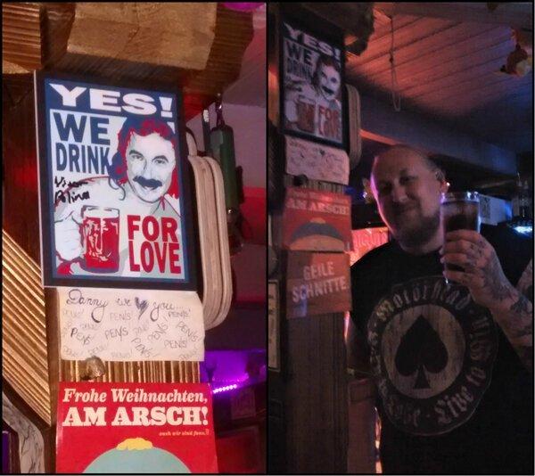 Откуда такая любовь к Николаеву в немецком рок-баре? Их нравы, германия, европа, немцы, прикол, юмор