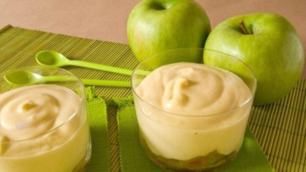 Яблочный крем-десерт