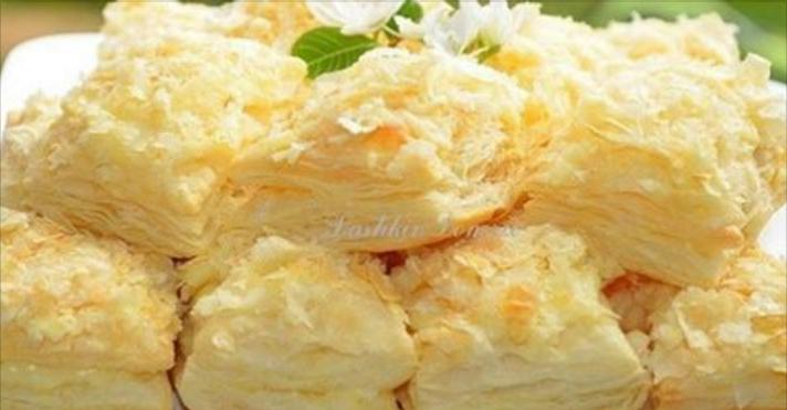 Пирожные «Сама нежность» из слоёного теста с заварным кремом