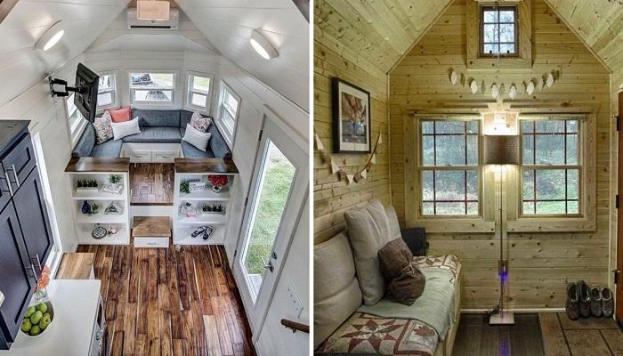 Практичные идеи интерьеров крошечных домиков, которые вполне подойдут как дачный вариант