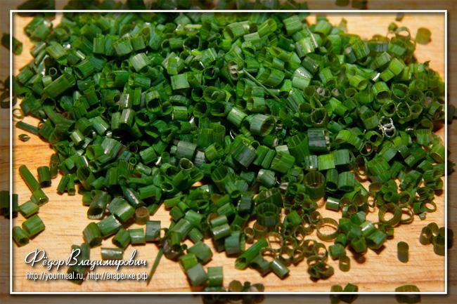 Салат из зеленого лука.