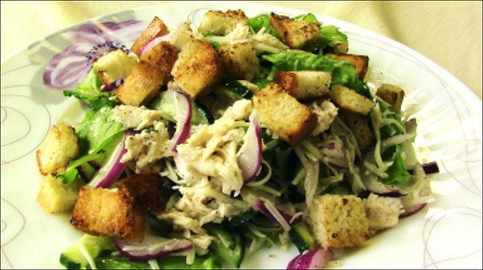 Салат «Хрустящий»: супер салат без майонеза!