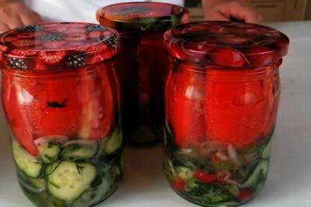 Летний салат на зиму: фото шаг 7