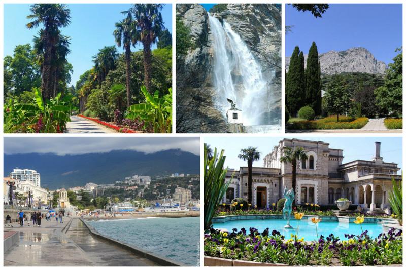 Ну и конечно же немного знаменитых достопримечательностей - Никитский ботанический сад, водопад Учан-су, Форосский парк, набережная Ялты, Юсуповский дворец интересное, красота, факты, ялта