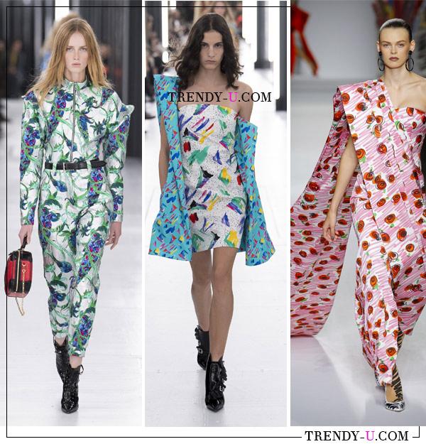 Принты на одежде в коллекции Louis Vuitton и Moscino весна-лето 2019
