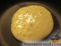 Фото приготовления рецепта: Хоткейки - американские оладьи на молоке - шаг №7