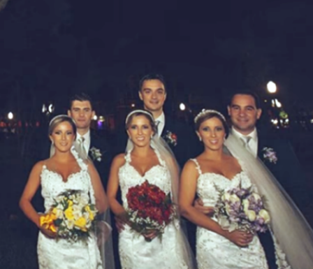 Сестры-близнецы вышли замуж в один день! Женихи, наверное, метки на них ставили, чтоб не перепутать…