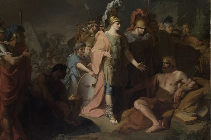 Встреча Македонского и Диогена. Жан-Батист Реньо, 1818