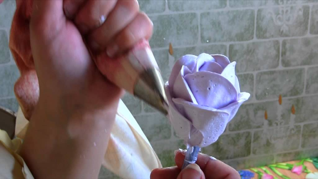 Как сделать розочки из крема на торт в домашних условиях пошагово