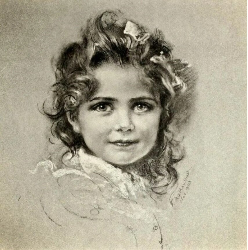 "Фридрих Август фон Каульбах ""Царевна Анастасия Николаевна Романова"". 1903"