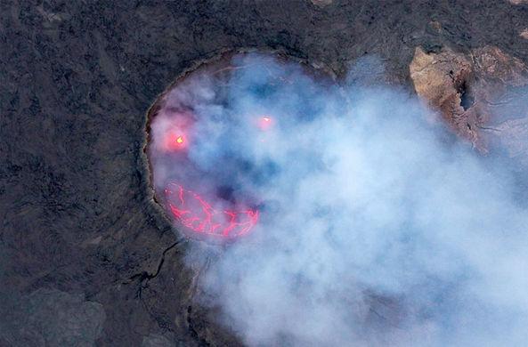 Извергающийся вулкан в Эфиопии «горячо улыбнулся»