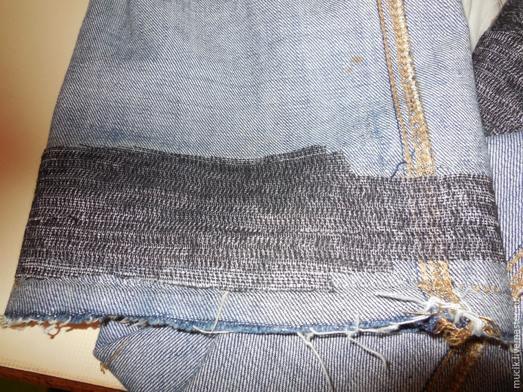 ремонт низа джинс