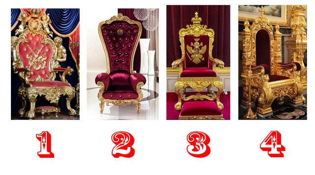 Выбранный трон королевы расскажет какая вы женщина, и что о вас думают мужчины