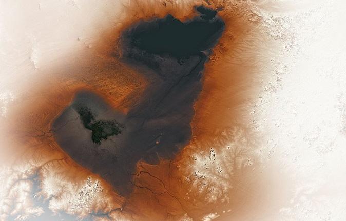 Ученые опубликовали снимок гигантского древнего озера в Африке