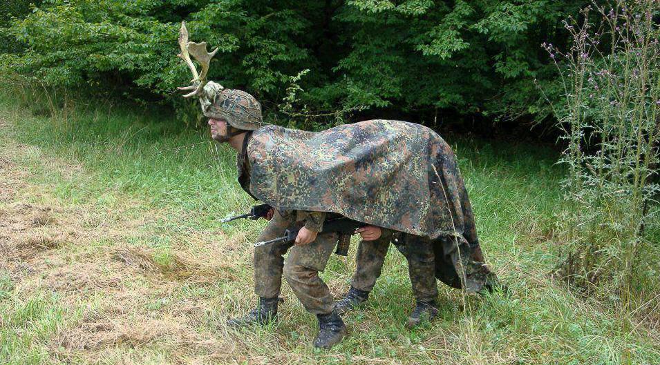 Маскировка эстонских военнослужащих на учениях по отражению агрессии России