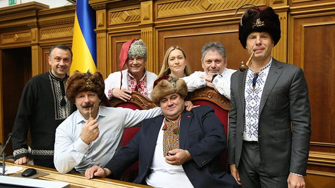 Они не боятся Путина или запоздалый Хэллоуин в Раде