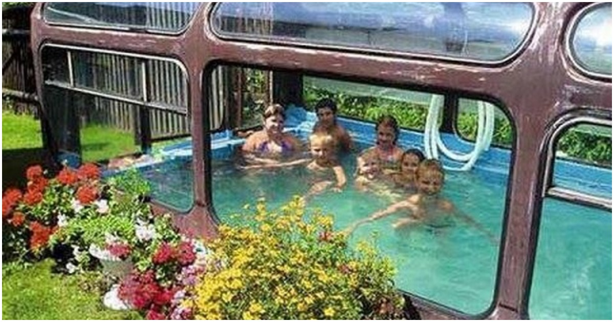 20 самых странных, но оригинальных бассейнов своими руками