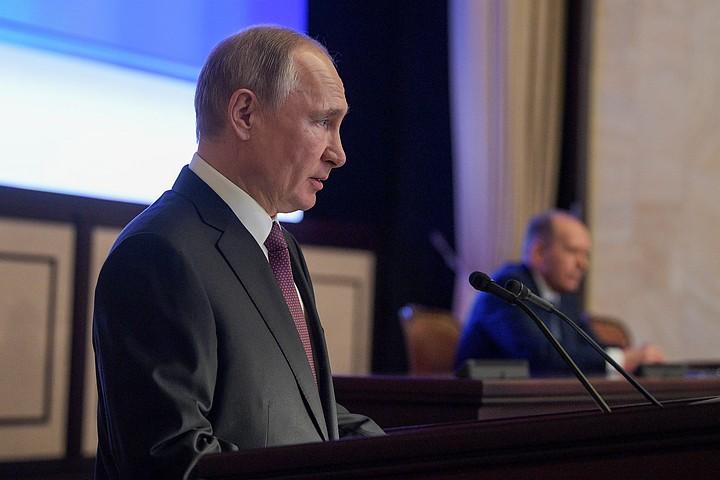 Путин — на коллегии ФСБ: Мы понимаем, что было бы, если бы вам не удалось это сделать