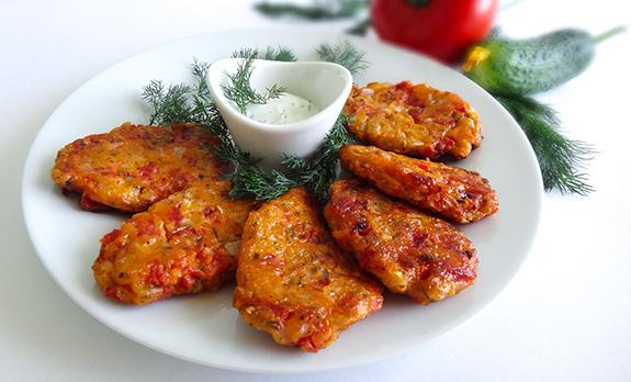 Доматокефтедес Греческие томатные котлетки