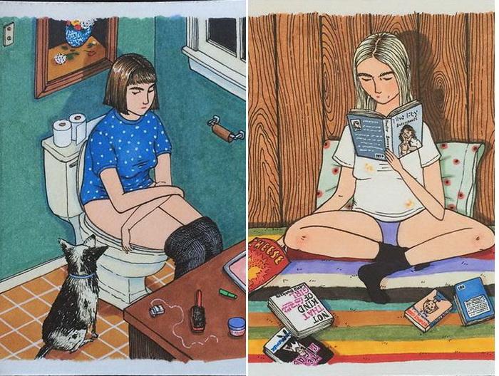 Когда никто не видит: откровенные рисунки о жизни девочек