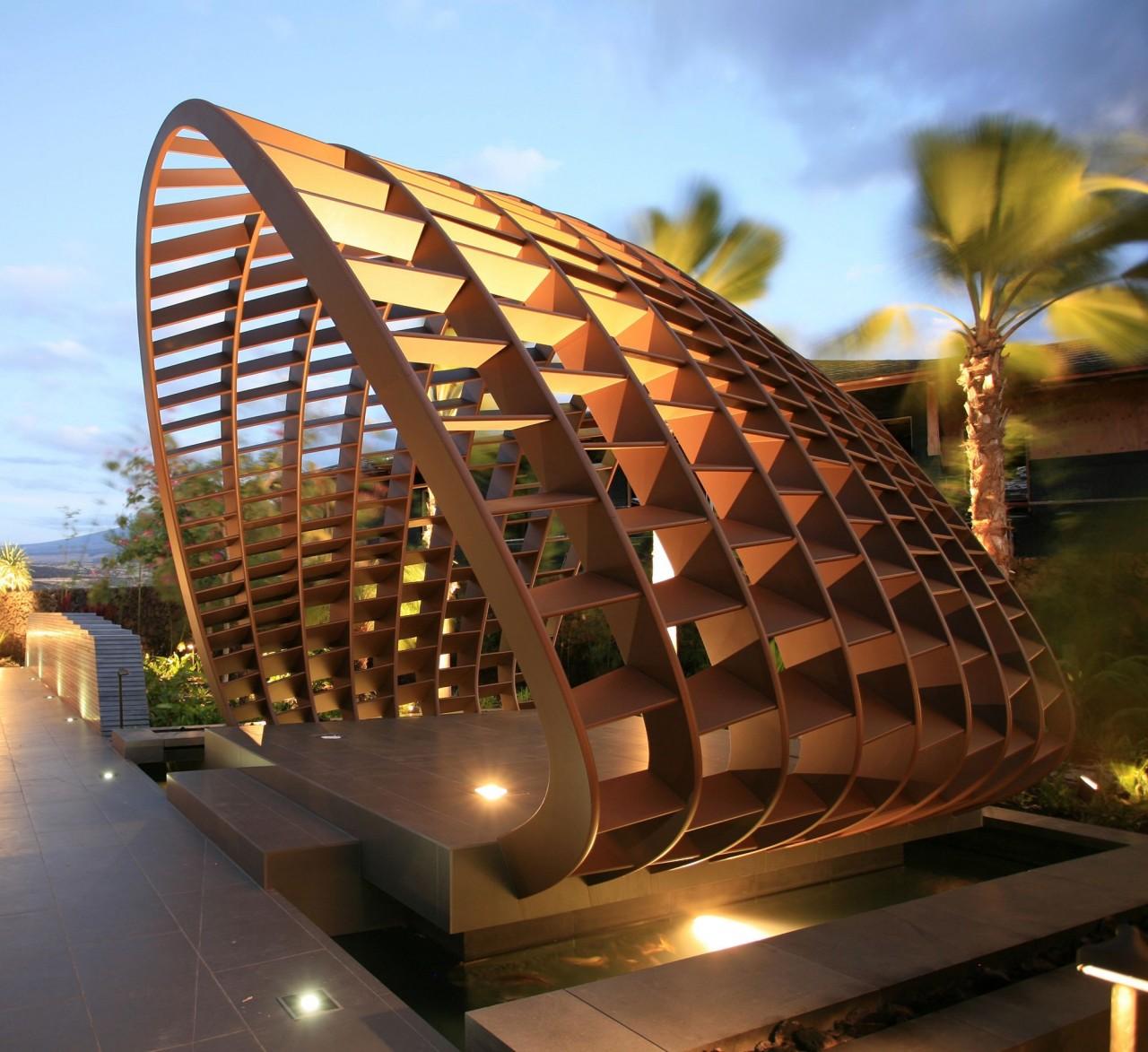 Уникальная архитектура жилой резиденции на Гаваях
