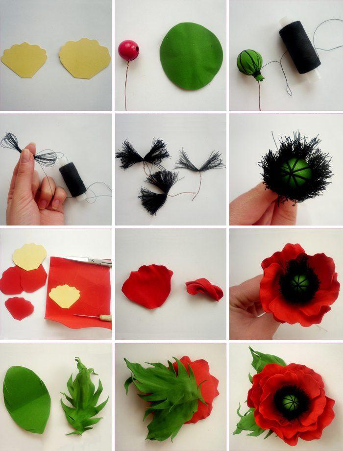 Поделки своими руками цветы из фоамирана