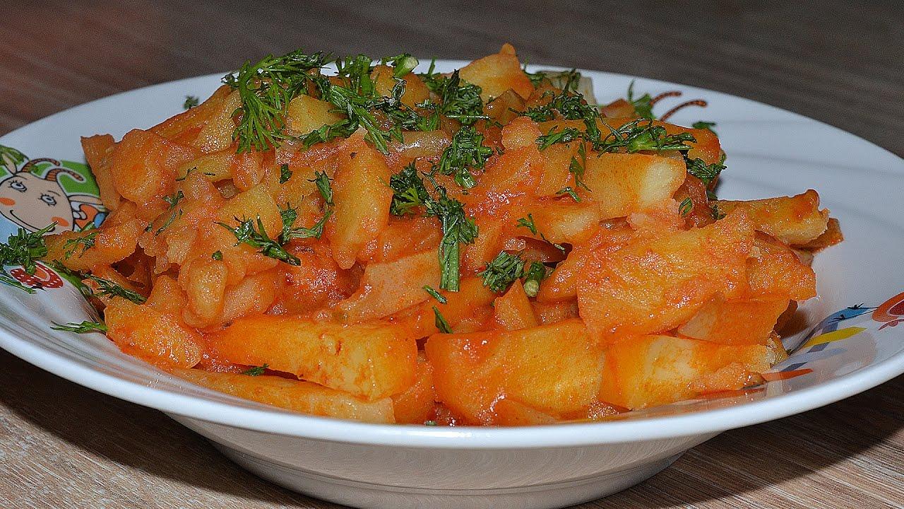 Аппетитная картошка, приготовленная в мультиварке
