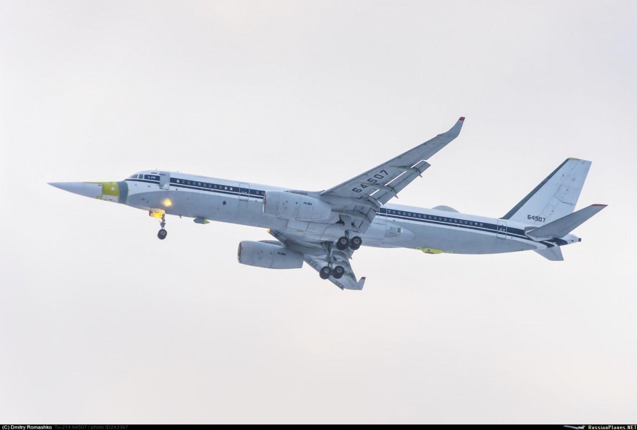 Начаты летные испытания летающей лаборатории Ту-214ЛМК