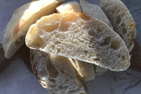 Фото к рецепту: Чиабатта с сыром