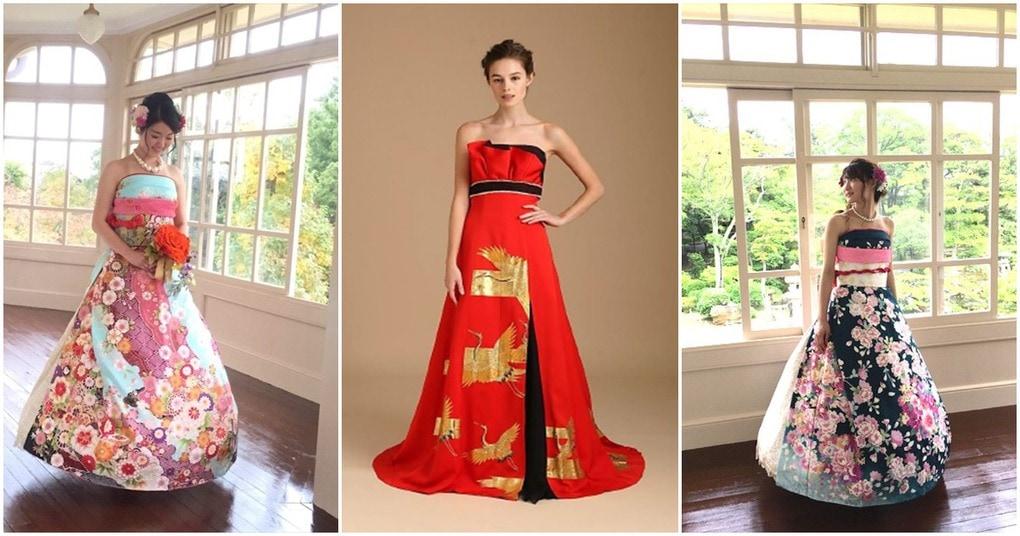 Невесты в Японии превращают кимоно в потрясающие свадебные платья