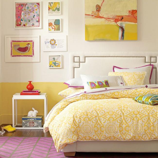 Особенности применения желтого цвета в интерьере