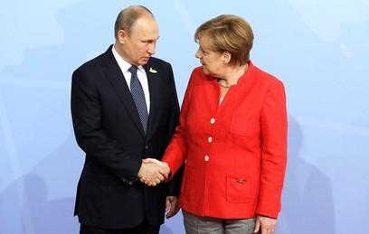 Путин поздравил Меркель с победой на выборах в Бундестаг