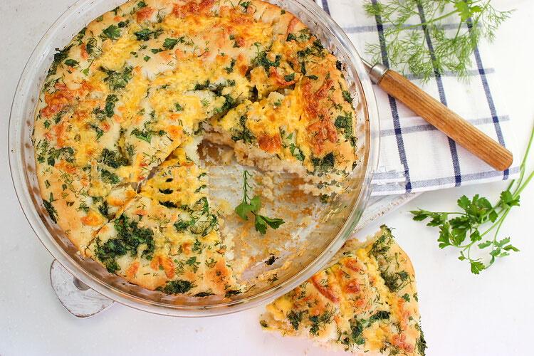 Хлеб с сыром и зеленью