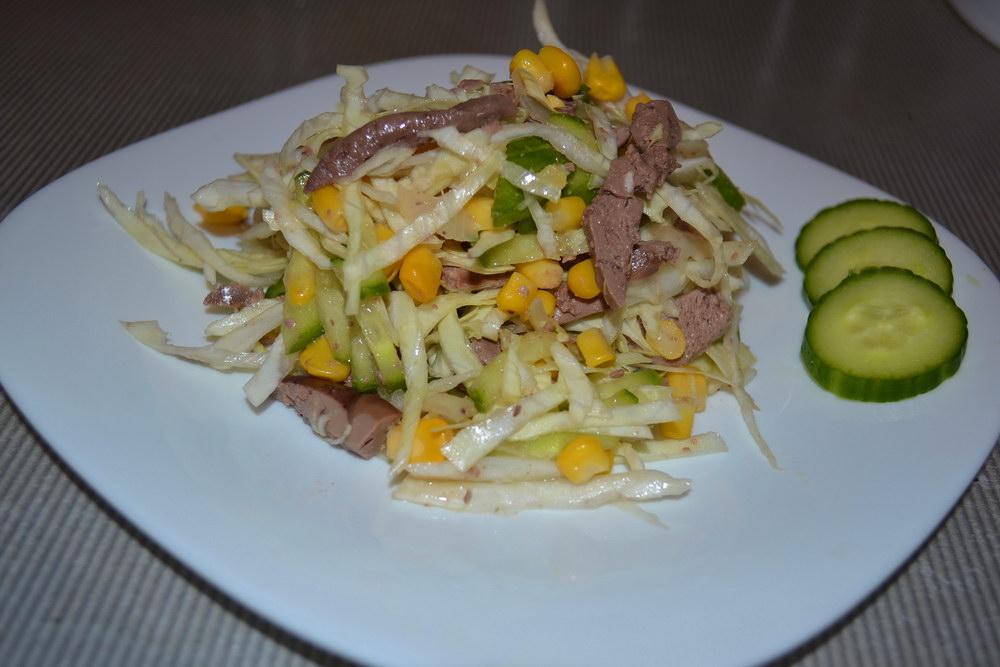 Новый печёночный салат — сыт…