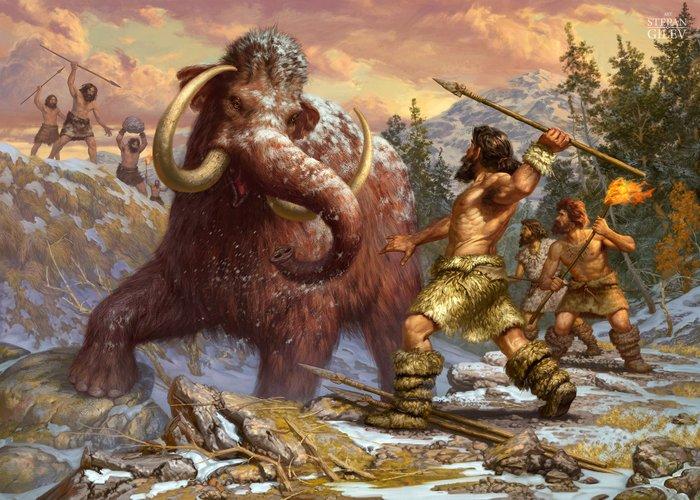 Картинки по запроÑу охота на мамонта