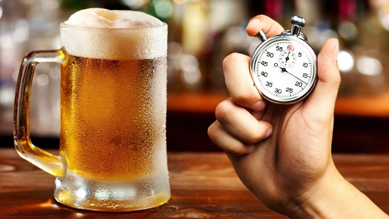 Как охладить пиво за 60 секунд
