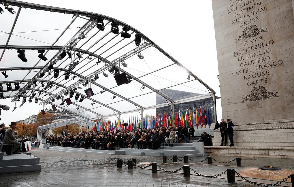 В Париже начались торжества в честь 100-летия со дня окончания Первой мировой войны