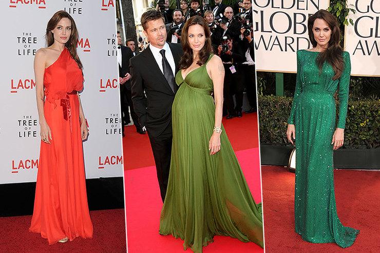 Цветная революция: 6 самых ярких платьев Анджелины Джоли