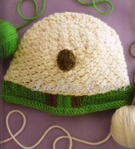 шапочка с овечкой