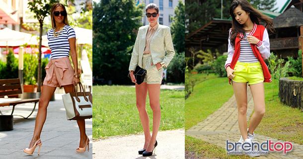 летние шорты женские
