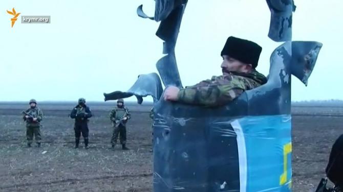 Появление грузовика с россий…