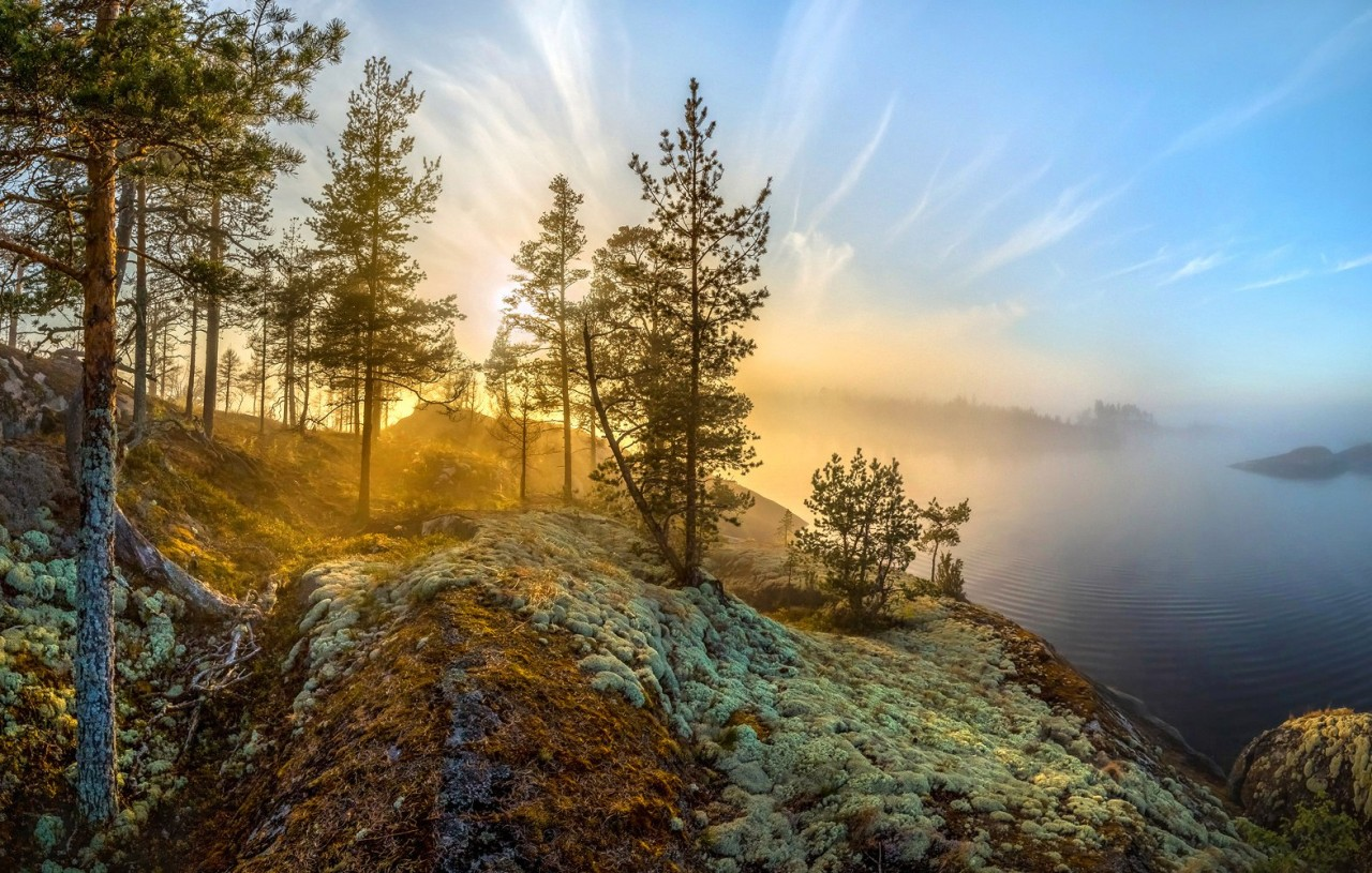 Туманное Ладожское озеро - это настоящее нереальное чудо!